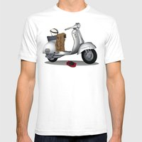 Vespa GS & Casual Stuffs Mens Fitted Tee White SMALL