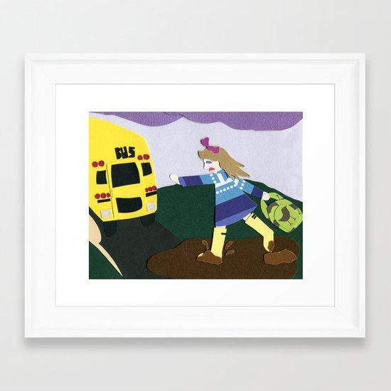 Running Late Framed Art Print