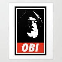 Obey Wan Art Print