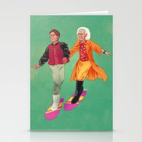 back to the future Stationery Cards featuring Back to the Future by Dave Collinson