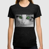 KITTURE Womens Fitted Tee Tri-Black SMALL