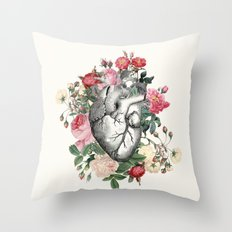 Roses for her Heart Throw Pillow
