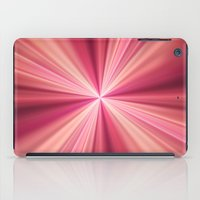 Pink Rays Abstract Fractal Art iPad Case