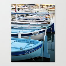 Boats of Cassis, Cote d'Azur French Riviera Canvas Print