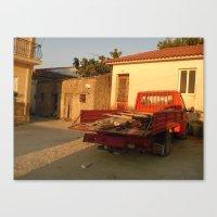 Il Rosso al Crepuscolo Canvas Print