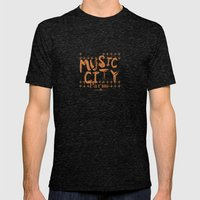 Music City Paris Mens Fitted Tee Tri-Black SMALL