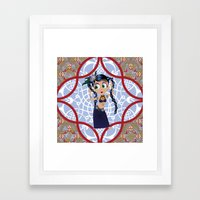 tribal dancer Framed Art Print