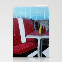 American Diner Impressionist Acrylic Fine Art Stationery Cards