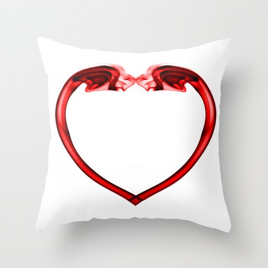 Love Smoke Red 2 Throw Pillow