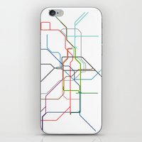 London tube iPhone & iPod Skin