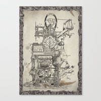 Lord Sargasso's Wondrous oldfangled nugatory contraption Canvas Print