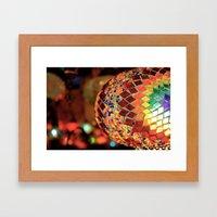 Mirrored Lamp Framed Art Print