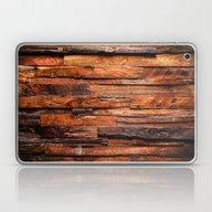 Beautifully Aged Wood Te… Laptop & iPad Skin