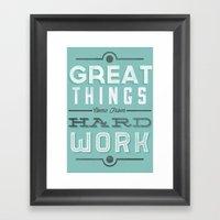 Great Things... Framed Art Print
