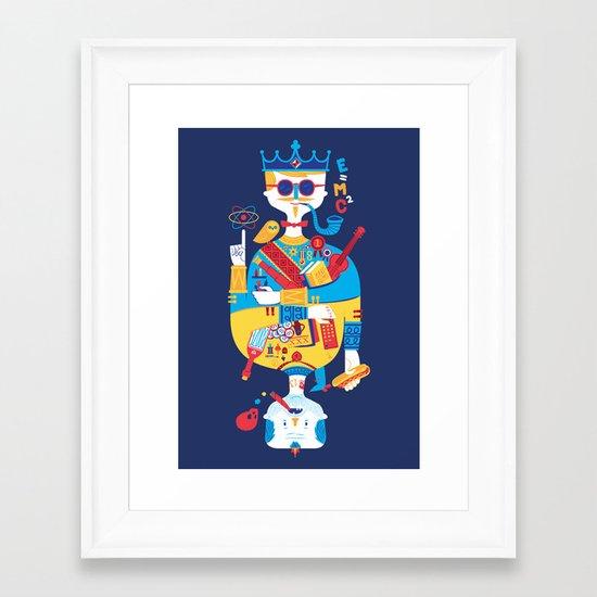 Jack of Smarts (Knave of Slobs) Framed Art Print