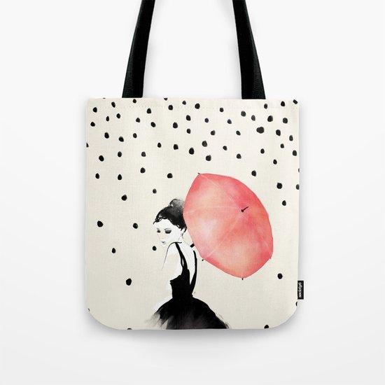 Polka Rain Tote Bag