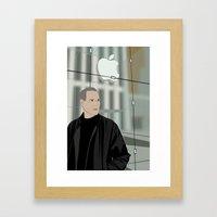 Steve Jobs on 5th Avenue Framed Art Print