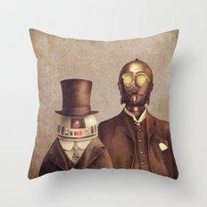 Victorian Robots  Throw Pillow