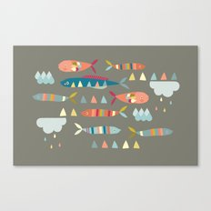 Fish Clouds Canvas Print