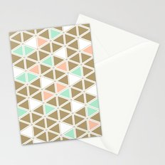 Colored Triangles Stationery Cards
