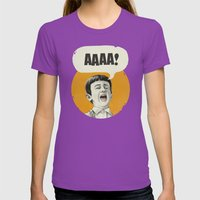 AAAA! (Golden) Womens Fitted Tee Ultraviolet SMALL