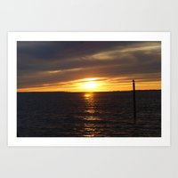 Sunset in Montauk 2 Art Print