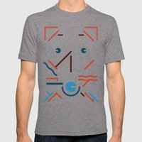 My Russell Mens Fitted Tee Tri-Grey SMALL