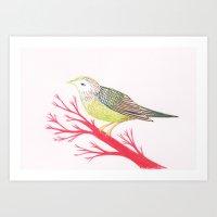 Little Green Bird Art Print