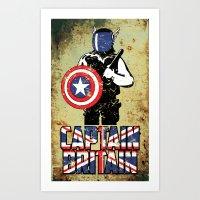 Captain Britain Art Print