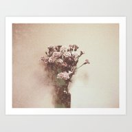 Art Print featuring Abstract Vintage Flowers by Victoria Herrera