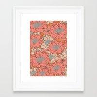 Loud Floral Framed Art Print
