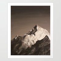 Mountain Painting Art Print