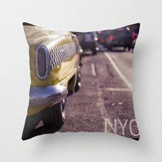 A Yellow Cab  Throw Pillow