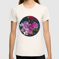 Purple Globes of Rhododendron  Womens Fitted Tee Natural SMALL