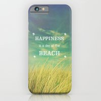 iPhone & iPod Case featuring Happiness is a Day at the Beach by Olivia Joy StClaire