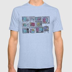 colour tv Mens Fitted Tee Athletic Blue SMALL