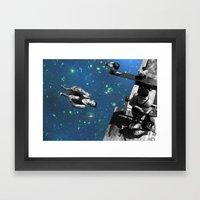 Star Diving Framed Art Print