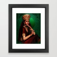 Framed Art Print featuring India Queen by Illu-Pic-A.T.Art