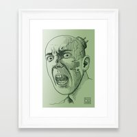 Techno Terror Framed Art Print
