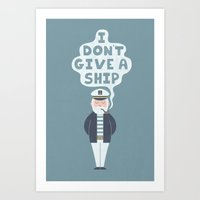 Indifferent Captain Art Print