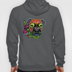 Boxer in Fawn - Day of the Dead Sugar Skull Dog Hoody