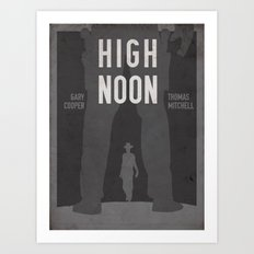 High Noon Western Movie Print Art Print