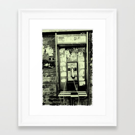 Just before the i-phone Framed Art Print