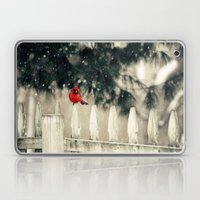 Snowy Day Cardinal Laptop & iPad Skin