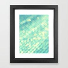 Pastel Teal Bokeh Framed Art Print