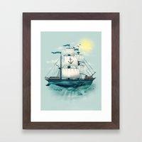 The Whaleship Framed Art Print