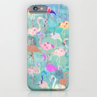 iPhone & iPod Case featuring Flamingo Party  by Nikkistrange