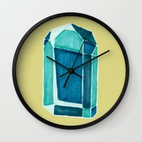 water crystal. Wall Clock