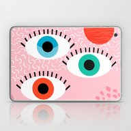 Noob - Eyes Memphis Retr… Laptop & iPad Skin