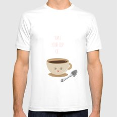 'Am I Your Cup Of Tea?' Mens Fitted Tee White SMALL